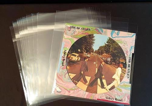 """12"""" PVC Resealable Resealable Crystal Clear Protective Sleeve - 12""""/LP - 100 Non added sale item UK P2RXXRE108545"""