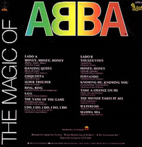 Abba The Magic Of Abba vinyl LP album (LP record) Colombian ABBLPTH237208