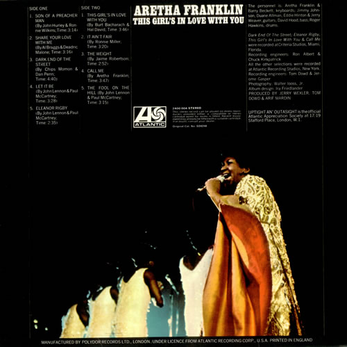 Aretha Franklin This Girl's In Love With You vinyl LP album (LP record) UK ARELPTH519707