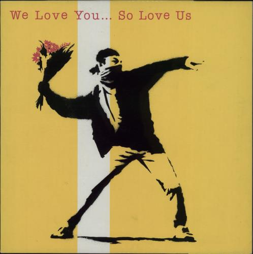 Banksy We Love You So Love Us vinyl LP album (LP record) UK BPHLPWE671503