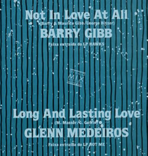 "Barry Gibb Not In Love At All 12"" vinyl single (12 inch record / Maxi-single) Brazilian BGB12NO232696"