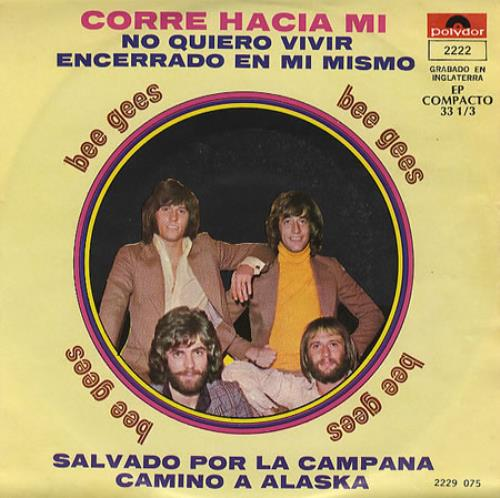 "Bee Gees Corre Hacia Mi EP - Run To Me 7"" vinyl single (7 inch record) Mexican BGE07CO150217"