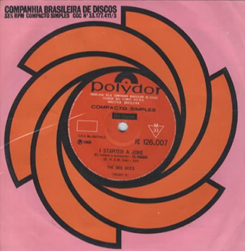 "Bee Gees I Started A Joke 7"" vinyl single (7 inch record) Brazilian BGE07IS286498"