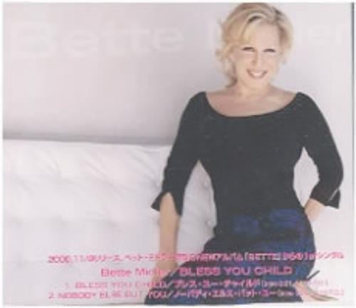 "Bette Midler Bless You Child CD single (CD5 / 5"") Japanese BMIC5BL174095"