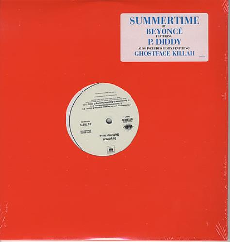 "Beyonce Knowles Summertime 12"" vinyl single (12 inch record / Maxi-single) US BYK12SU387438"