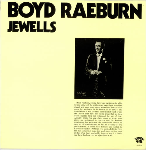 Boyd Raeburn Jewells 2-LP vinyl record set (Double Album) US 7BR2LJE490157