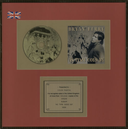 Bryan Ferry As Time Goes By in-house award disc UK FERAIAS600950