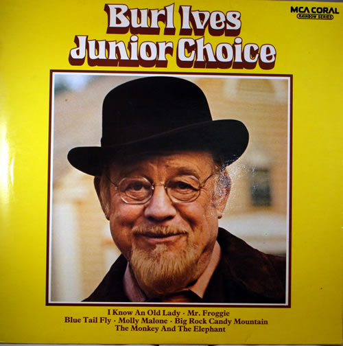Burl Ives Junior Choice vinyl LP album (LP record) UK BUVLPJU564882