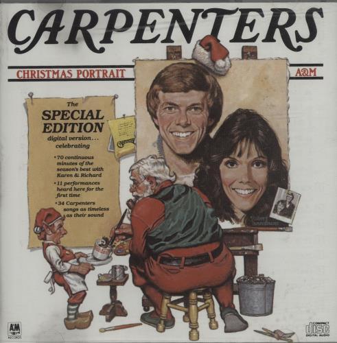 Carpenters Christmas Portrait CD album (CDLP) UK CRPCDCH665626