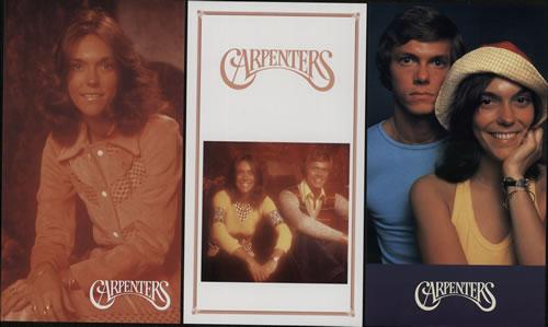 Carpenters If I Were A Carpenter Promotional Postcards - Four Packs memorabilia Japanese CRPMMIF640837
