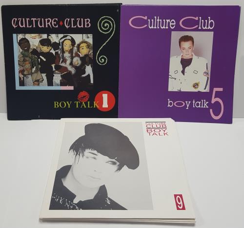 """Culture Club Boy Talk - Issues 1-12 7"""" vinyl single (7 inch record) UK CUL07BO154391"""