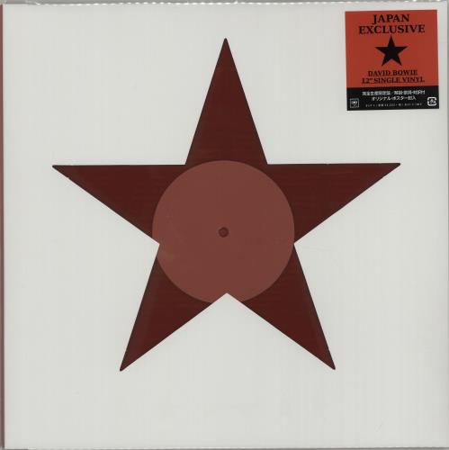 "David Bowie Blackstar - Red Vinyl + Poster & Flyer 12"" vinyl single (12 inch record / Maxi-single) Japanese BOW12BL665766"