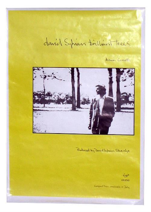 David Sylvian Brilliant Trees poster UK SYLPOBR139428