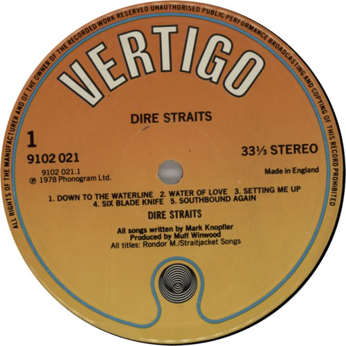 Dire Straits Dire Straits - 2nd vinyl LP album (LP record) UK DIRLPDI543908
