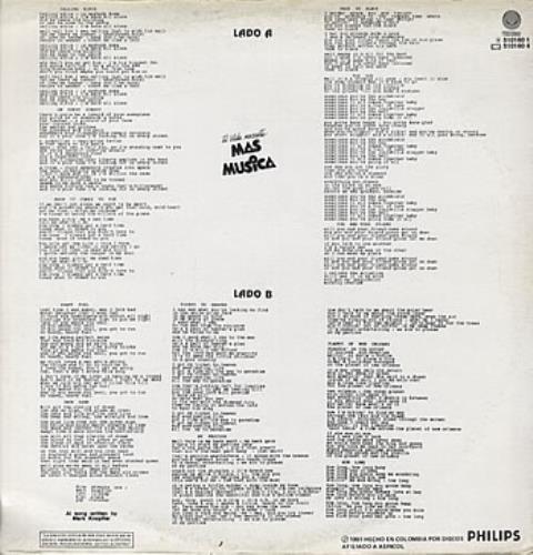 Dire Straits On Every Street vinyl LP album (LP record) Colombian DIRLPON321164
