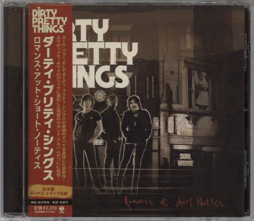 Dirty Pretty Things Romance At Short Notice CD album (CDLP) Japanese DIGCDRO609155