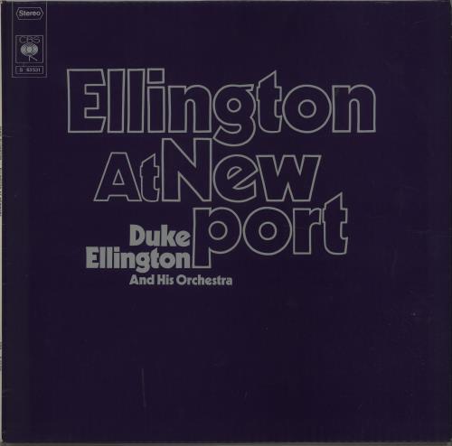 Duke Ellington Ellington At Newport - Autographed vinyl LP album (LP record) German DA3LPEL670228