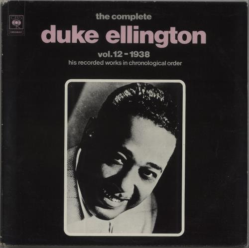 Duke Ellington The Complete Duke Ellington Vol. 12 1938 2-LP vinyl record set (Double Album) Dutch DA32LTH670206