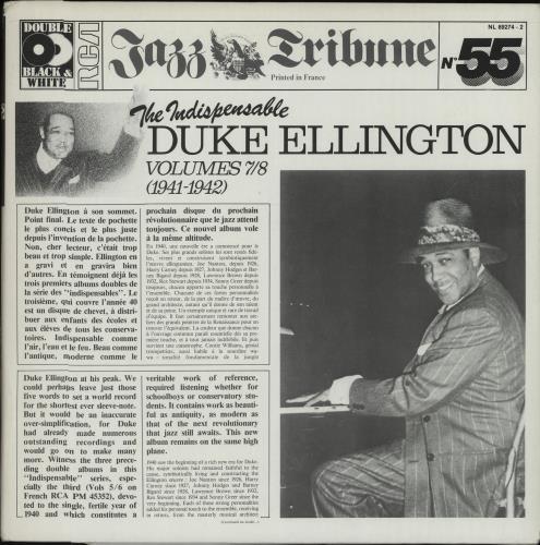 Duke Ellington The Indispensable Duke Ellington Volumes 7/8 (1941-1942) 2-LP vinyl record set (Double Album) French DA32LTH670219