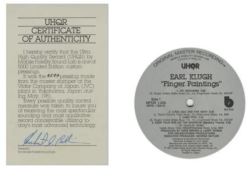 Earl Klugh Finger Paintings box set US EAQBXFI427140