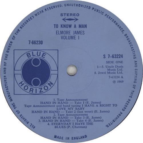 Elmore James To Know A Man 2-LP vinyl record set (Double Album) UK EMJ2LTO400120