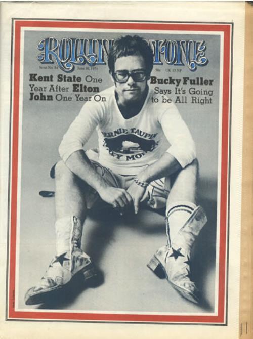 Elton John Rolling Stone Issue 84 - 1971 magazine US JOHMARO558363