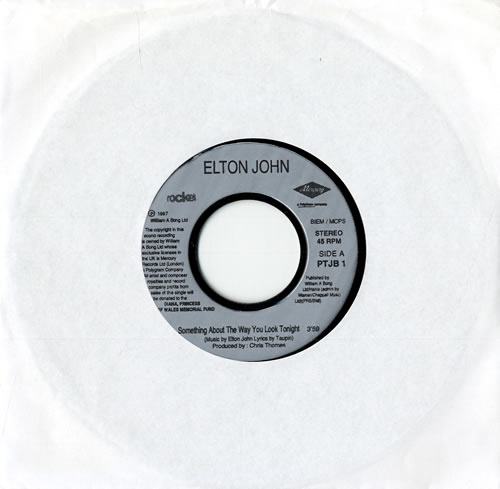 "Elton John Something About The Way You Look Tonight - Jukebox Issue 7"" vinyl single (7 inch record) UK JOH07SO555012"