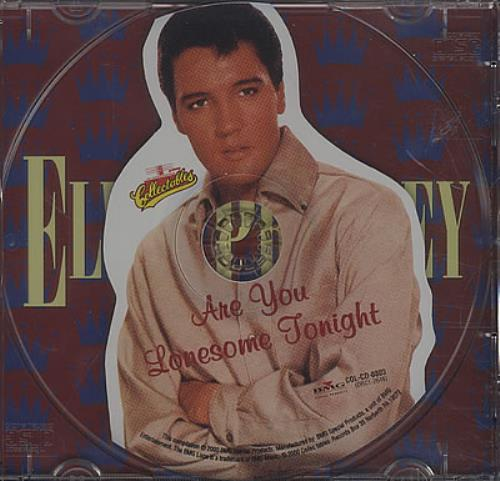 "Elvis Presley Are You Lonesome Tonight CD single (CD5 / 5"") Canadian ELVC5AR378309"