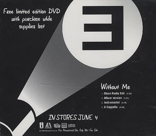 "Eminem Without Me CD single (CD5 / 5"") US INEC5WI214564"