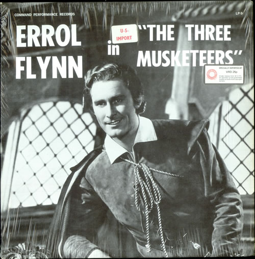 Errol Flynn The Three Musketeers vinyl LP album (LP record) US EF-LPTH503042