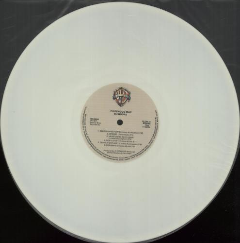Fleetwood Mac Rumours - White Vinyl vinyl LP album (LP record) Dutch MACLPRU88553