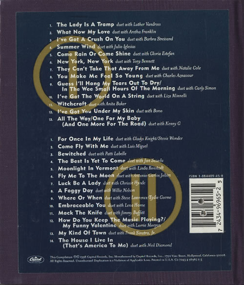 Best Of Duets Frank Sinatra: Frank Sinatra Duets And Duets II US CD Album Box Set (189926