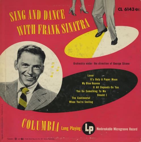 "Frank Sinatra Sing And Dance With Frank Sinatra 10"" vinyl single (10"" record) US FRS10SI390070"