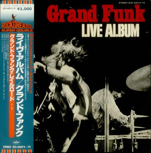 Grand Funk Railroad Grand Funk - Live Album 2-LP vinyl record set (Double Album) Japanese GFR2LGR549053