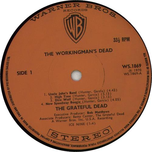 Grateful Dead The Workingman's Dead - 2nd vinyl LP album (LP record) UK GRDLPTH663051