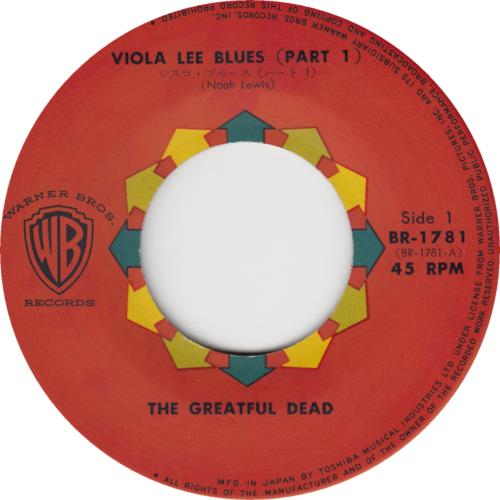 "Grateful Dead Viola Lee Blues (Part 1 & 2) 7"" vinyl single (7 inch record) Japanese GRD07VI666206"