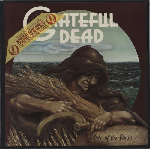 Grateful Dead Wake Of The Flood/From The Mars Hotel - stickered 2-LP vinyl record set (Double Album) UK GRD2LWA663057