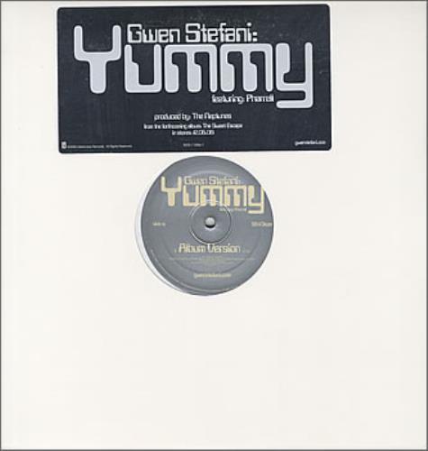 """Gwen Stefani Yummy 12"""" vinyl single (12 inch record / Maxi-single) US GWS12YU385929"""