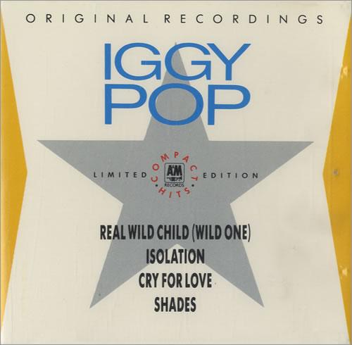 "Iggy Pop Real Wild Child CD single (CD5 / 5"") UK IGGC5RE35050"