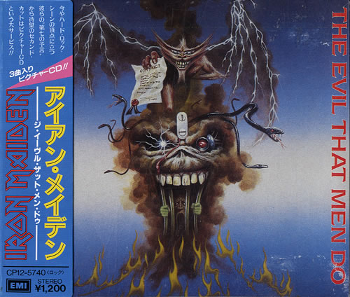 "Iron Maiden The Evil That Men Do + Obi-Strip CD single (CD5 / 5"") Japanese IROC5TH555841"