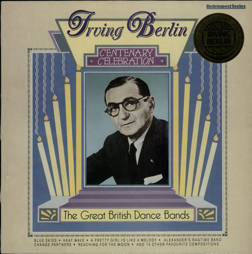 Irving Berlin Centenary Celebration vinyl LP album (LP record) UK IVBLPCE568093