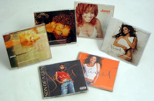 "Janet Jackson Collection Of 6 x CD Singles CD single (CD5 / 5"") UK J-JC5CO425827"