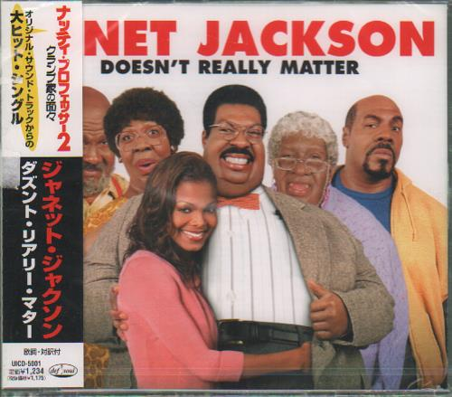 """Janet Jackson Doesn't Really Matter CD single (CD5 / 5"""") Japanese J-JC5DO162609"""