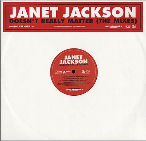 "Janet Jackson Doesn't Really Matter 12"" vinyl single (12 inch record / Maxi-single) UK J-J12DO164037"