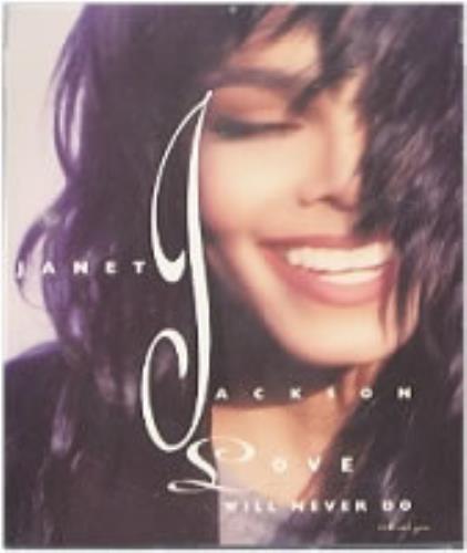 "Janet Jackson Love Will Never Do CD single (CD5 / 5"") US J-JC5LO88951"