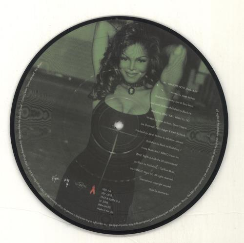 """Janet Jackson Whoops Now 7"""" vinyl picture disc 7 inch picture disc single UK J-J7PWH42105"""