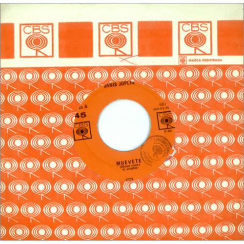 "Janis Joplin Muevete - Move Over 7"" vinyl single (7 inch record) Mexican JNJ07MU415963"