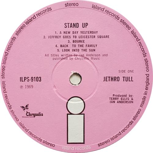 Jethro Tull Stand Up - 3rd - Pink 'i' vinyl LP album (LP record) UK TULLPST664852