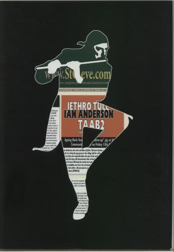 Jethro Tull Thick As A Brick 2 tour programme UK TULTRTH655112