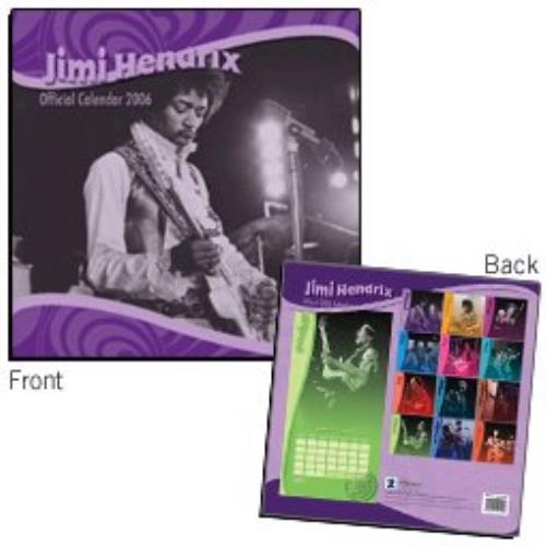 Jimi Hendrix Official Calendar 2006 calendar UK HENCAOF328576